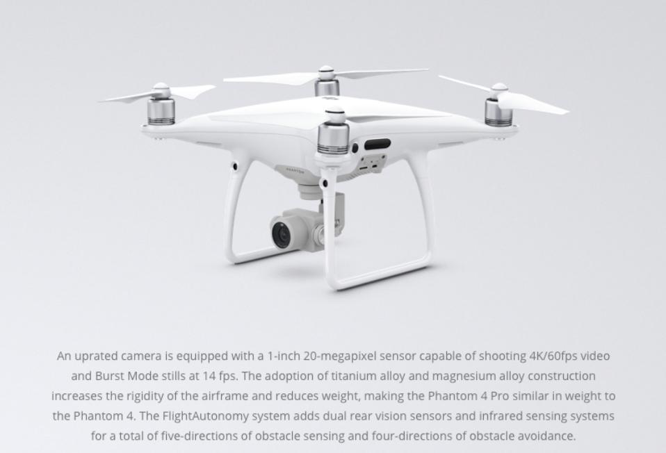 DJI Phantom 4 Pro Drone Camera - White: Amazon.co.uk ...