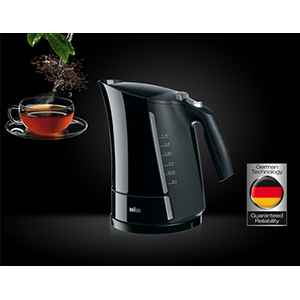 Braun Multiquick 5 Kettle 1.7 L, Black - WK500