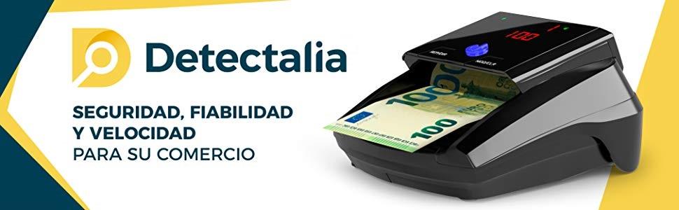 Detectora de billetes falsos Detectalia D7M listo para los nuevos billetes de 100 y 200 euros con 100% de detección en pruebas oficiales del Banco ...