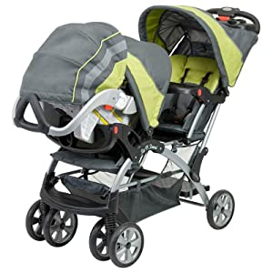Babytrend Sit N stand Double Stroller Optic Pink