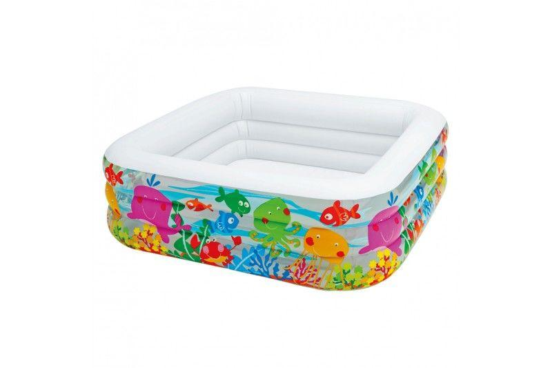 Intex 57471ep piscina hinchable cuadrada jard n for Piscina hinchable jardin
