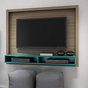 BRV Moveis TV Panel with Two Shelves for 55 inch TV - Brown