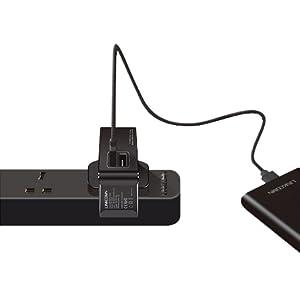Linkcomn KC W22U Wall Charger with 2 USB Ports - Black