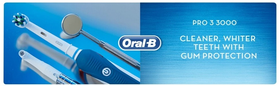 Oral-B Pro 3 3000 CrossAction Electric Toothbrush Rechargeable Powered By Braun
