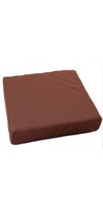 昭和西川 ムアツ クッション 2フォーム ブラウン 7×40×40cm 凹凸構造 2220406500203