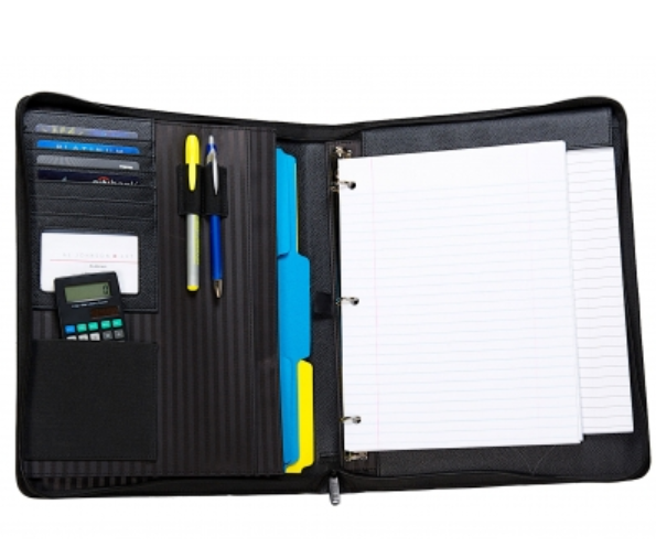 Case It Executive Zippered Padfolio With Removable 3 Ring