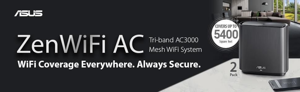 ASUS Zen Wifi AiMEsh Wifi 6 Black White router wireless networking