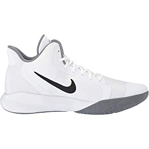 Nike NIKE PRECISION III, Men's Basketball Shoes, Black (White/Black 100), 8 UK (42.5 EU)