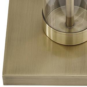Stone Amp Beam Glass Column Black Floor Lamp 59 Quot H With
