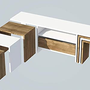 The furniture project Bianco/NOCE