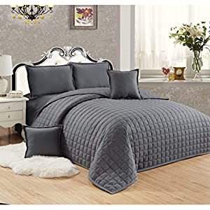 Compressed Two-Sided Color 6 Pieces Comforter Set
