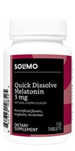 Solimo Quick Dissolve Melatonin 5mg