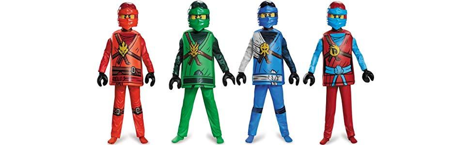 Disguise Kai Deluxe Ninjago Lego Costume, Small/4-6