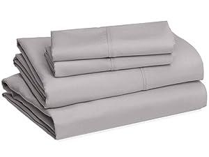 Amazon Basics Microfiber bed sheet sets for master bedroom, kids room, dorm room or guest room
