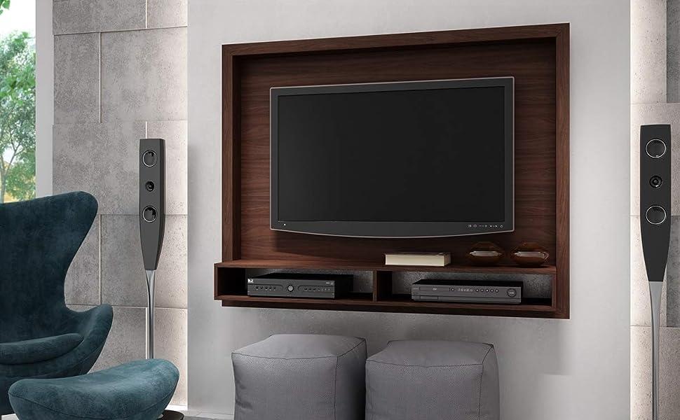 Brv Moveis TV Panel Shelf with Two Shelves