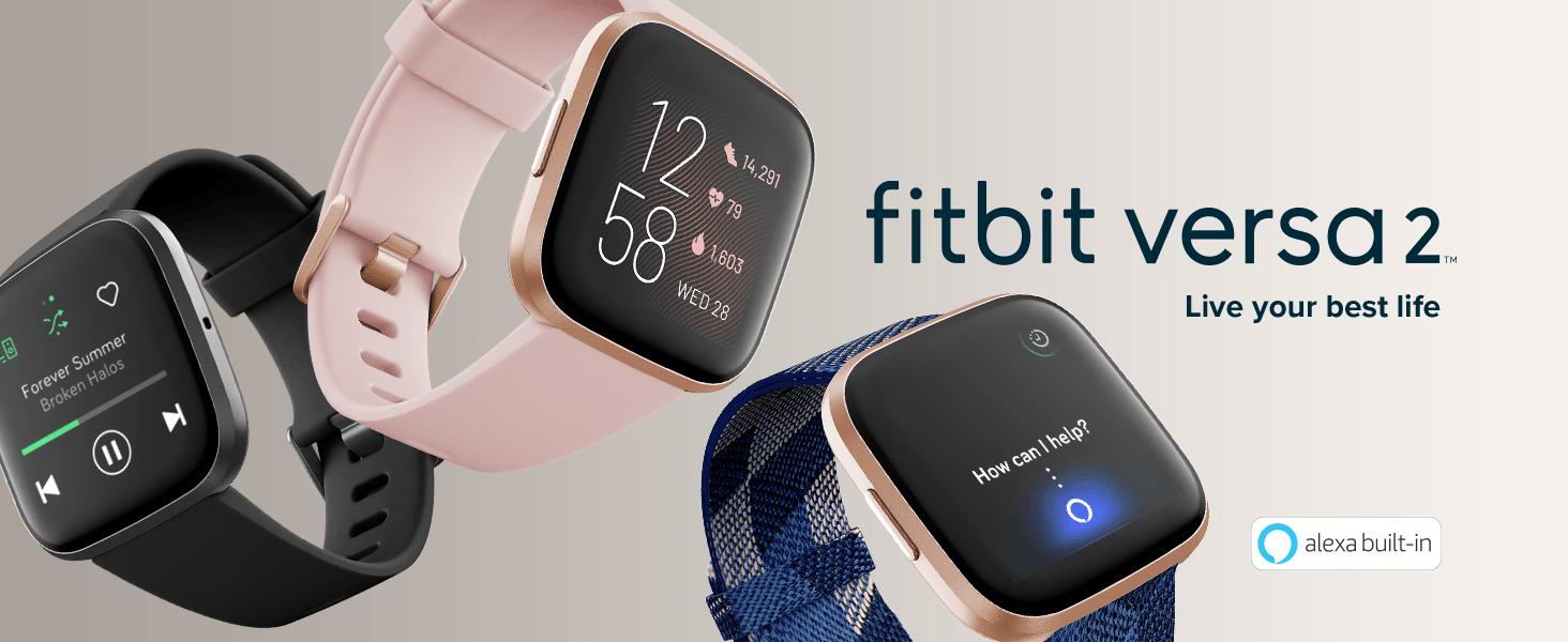 fitbit Versa 2 watches with different screens