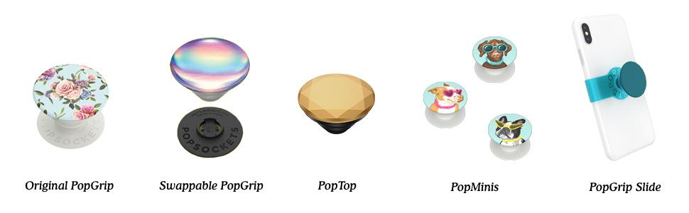 popsockets grip family with product names