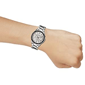 Watch for Men by Casio, Analog, Chronograph, Stainless Steel, Silver, MTP-1374D-7AV