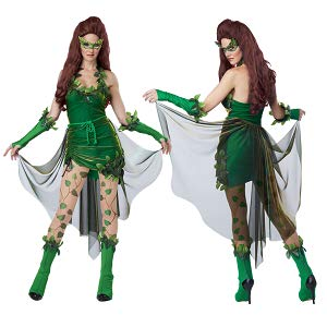 Lethal Beauty Poison Ivy Super Villainess Women Costume Fancy Dress