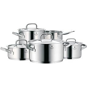 WMF Gourmet Plus-Batería de Cocina, Cromargan Acero Inoxidable, 5 ...