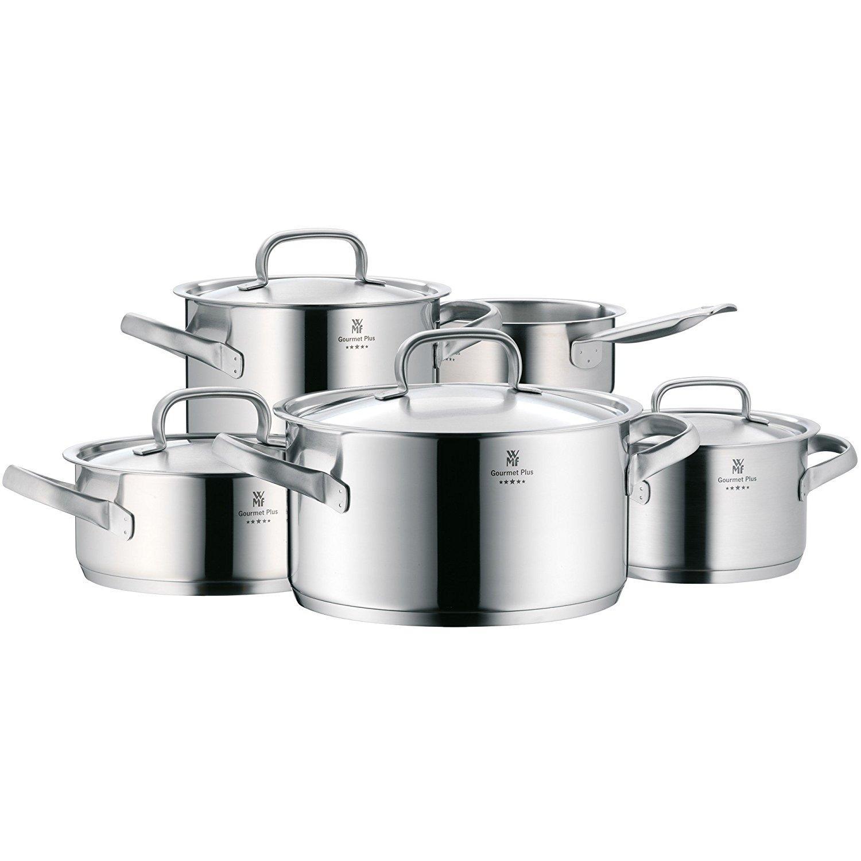 Wmf gourmet plus bater a de cocina 5 piezas for Bateria de cocina alemana