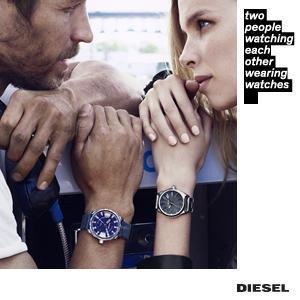 Diesel Mens Quartz Watch, Analog Display and Stainless Steel Strap, DZ4360