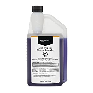 AmazonBasics Multi-Purpose Cleaner, Lavender, Concentrate, Dilution Control, 32-Ounces, 6-Pack