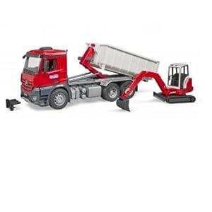 MB Arocs LKW mit Abrollcontainer: : Spielzeug
