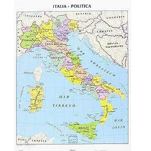 Mostra Cartina Dell Italia.Cwr Cartina Geografica Italia Fisica E Politica Formato A4
