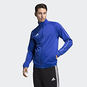adidas Core18 PES Jkt Sport Jacket, Hombre, Negro (Black/White ...
