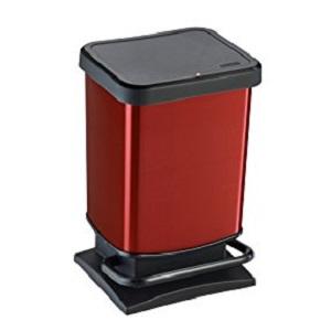 Rotho Paso - Contenedor de basura ermético a olores, con pedal, 20 ...