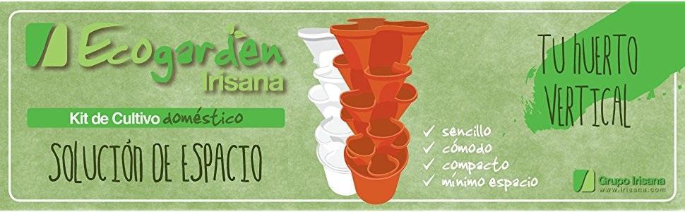 kit cultivo básico irisana ecológico sencillo cómodo compacto espacio huerto vertical erogarden