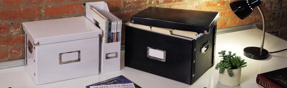 Snap-N-Store Bo/îte /à archives avec inscription en anglais SNS01533 Noir brillant 9,75 x 10,75 x 13,25 cm