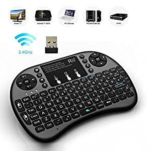 buy riitek rii i8 wireless touchpad keyboard with mouse black online at low prices. Black Bedroom Furniture Sets. Home Design Ideas