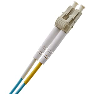 AmazonBasics 10Gb 40Gb Multimode OM3 Duplex 50/125 OFNP Fiber Patch Cable LC to LC - 3 Meters