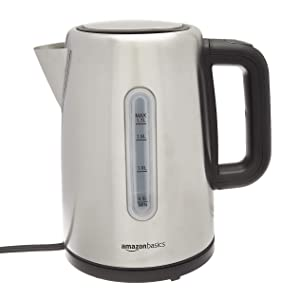 AmazonBasics Stainless Steel Electric Kettle - 1.7-Liter