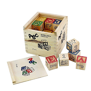 Generic ABC 123 Wooden Blocks Letters Numbers with Box Storage Case