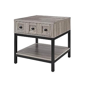 Amazon Com Ameriwood Home Barret Lift Up Coffee Table Gray Oak