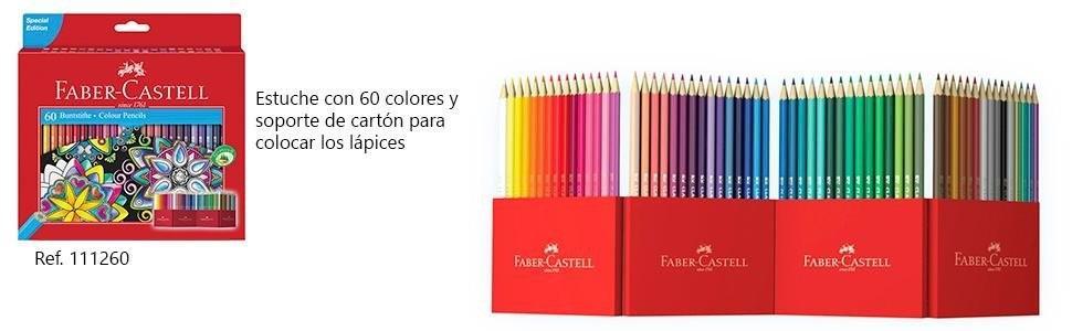 Faber Castell 120136 - Estuche cartón con 36 lápices hexagonales multicolor, lápices escolares de colores: Amazon.es: Oficina y papelería