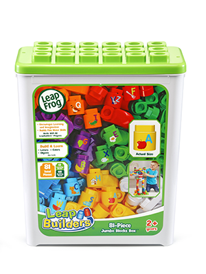 LeapBuilders 81-Piece Blocks Box