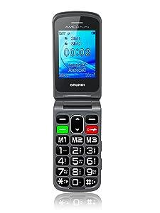Brondi Amico Flip+ Telefono Cellulare, Nero