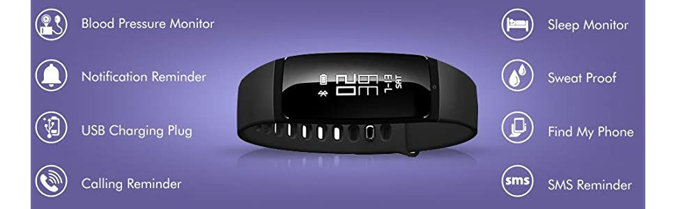Riversong Wave S Stylish Fitness Band FT11