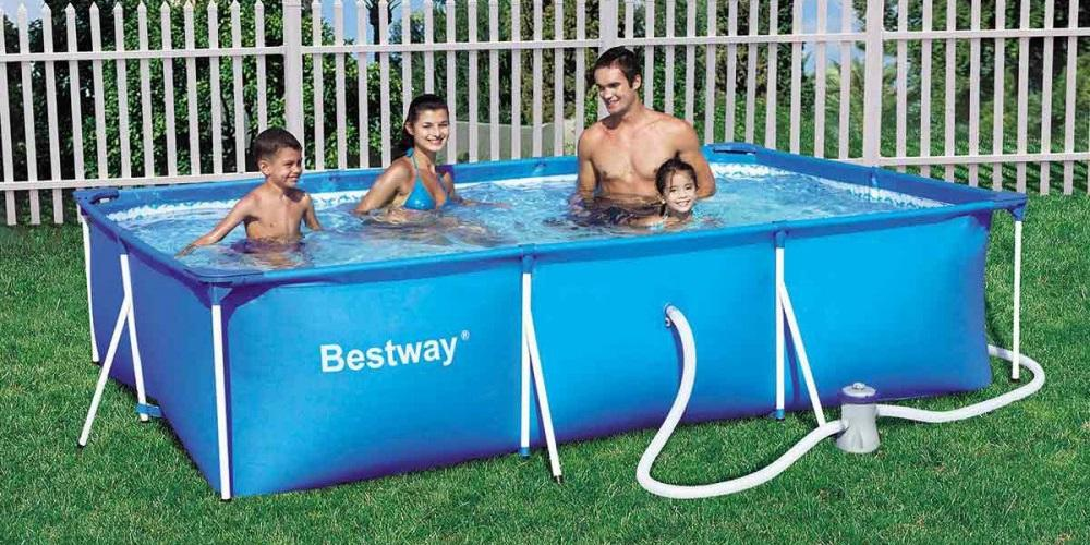 Bestway Deluxe Splash Frame - Piscina Tubular con depuradora, 300 ...