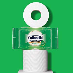 Large, 2-Ply Toilet Wipes Clean Better Than Toilet Paper
