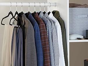 Amazon Basics Non-Slip Velvet Suit Garment Clothes Hangers