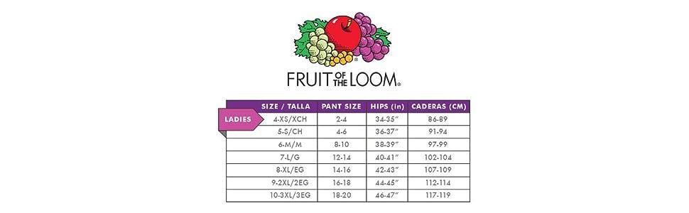 Fruit of the Loom Women's 10 Pack Original Cotton Brief
