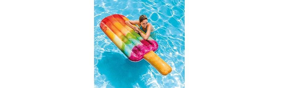 Intex 58766EU - Colchoneta hinchable Helado de colores 76 x 191 cm ...