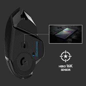 Logicool ロジクール ワイヤレスゲーミングマウス G502WL ブラック POWERPLAY無線充電 11個プログラムボタン ウェイト調整 HERO16Kセンサー