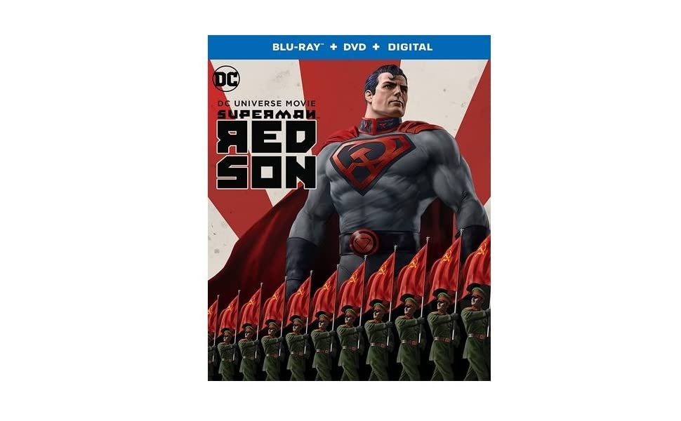 Amazon Com Superman Red Son Blu Ray Dvd Digital Combo Pack Amy Mckenna Bruce Timm Sam Liu Sam Register Jim Krieg Sam Liu Jason Isaacs Diedrich Bader Amy Acker Sasha Roiz Roger