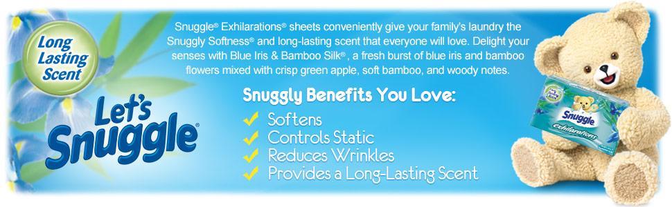 Snuggle Blue Iris & Bamboo Silk Dryer Sheets